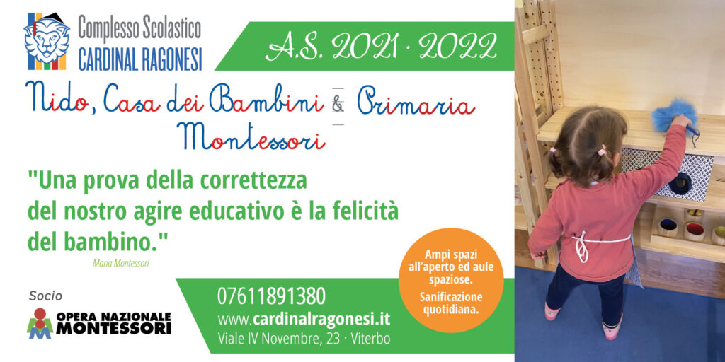 1 600x300 MontessoriRagonesi 2020 01 1024x512 - Il complesso scolastico Cardinal Ragonesi riparte con nuove opportunità.