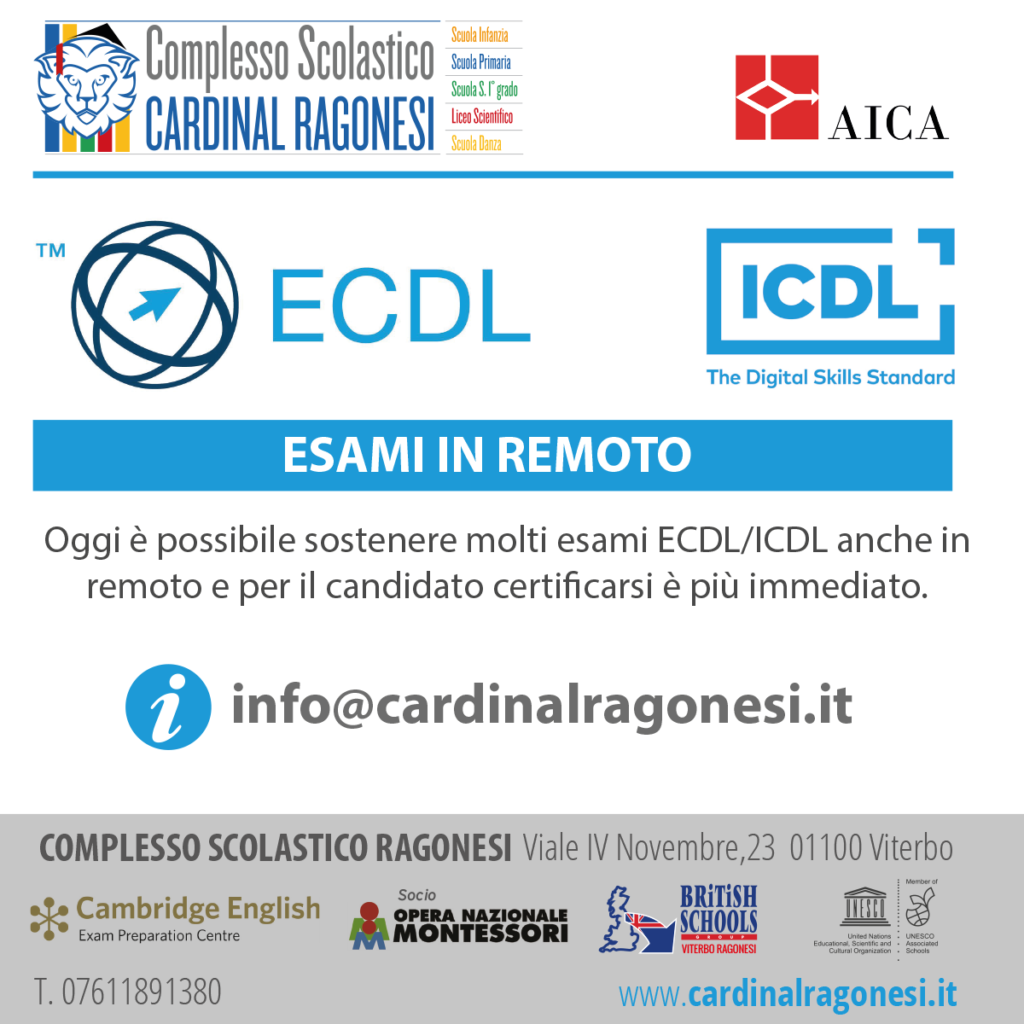 1 ECDL ICDL RAGONESI 2020 1024x1024 - ECDL/ICDL - ESAMI IN REMOTO