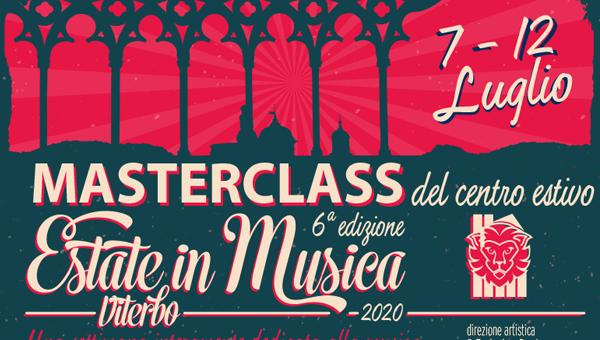 1 evidenza MASTERCLASS estate in musica 2020 600x340 - Estate in Musica - Viterbo • Luglio 2021