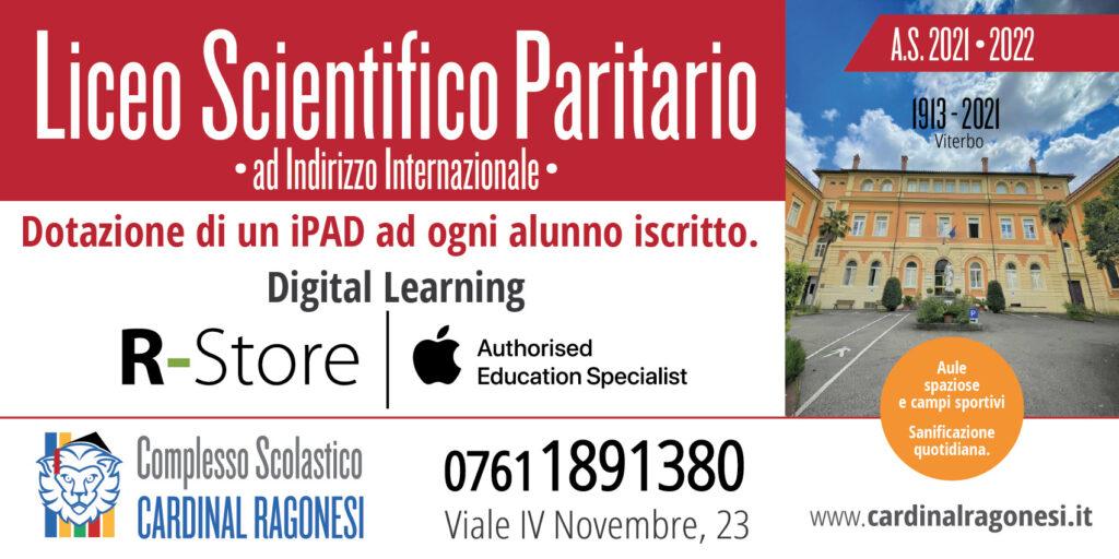 2 SCIENTIFICO 600x300 MontessoriRagonesi 2021 01 1024x512 - Il complesso scolastico Cardinal Ragonesi riparte con nuove opportunità.