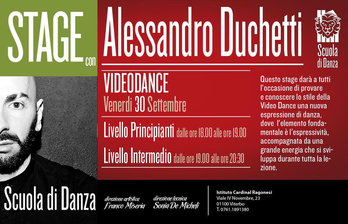 Danza Ragonesi STAGE DUCHETTI Videodance 30sett V - Scuola Danza. Inizio lezioni nuovo anno.