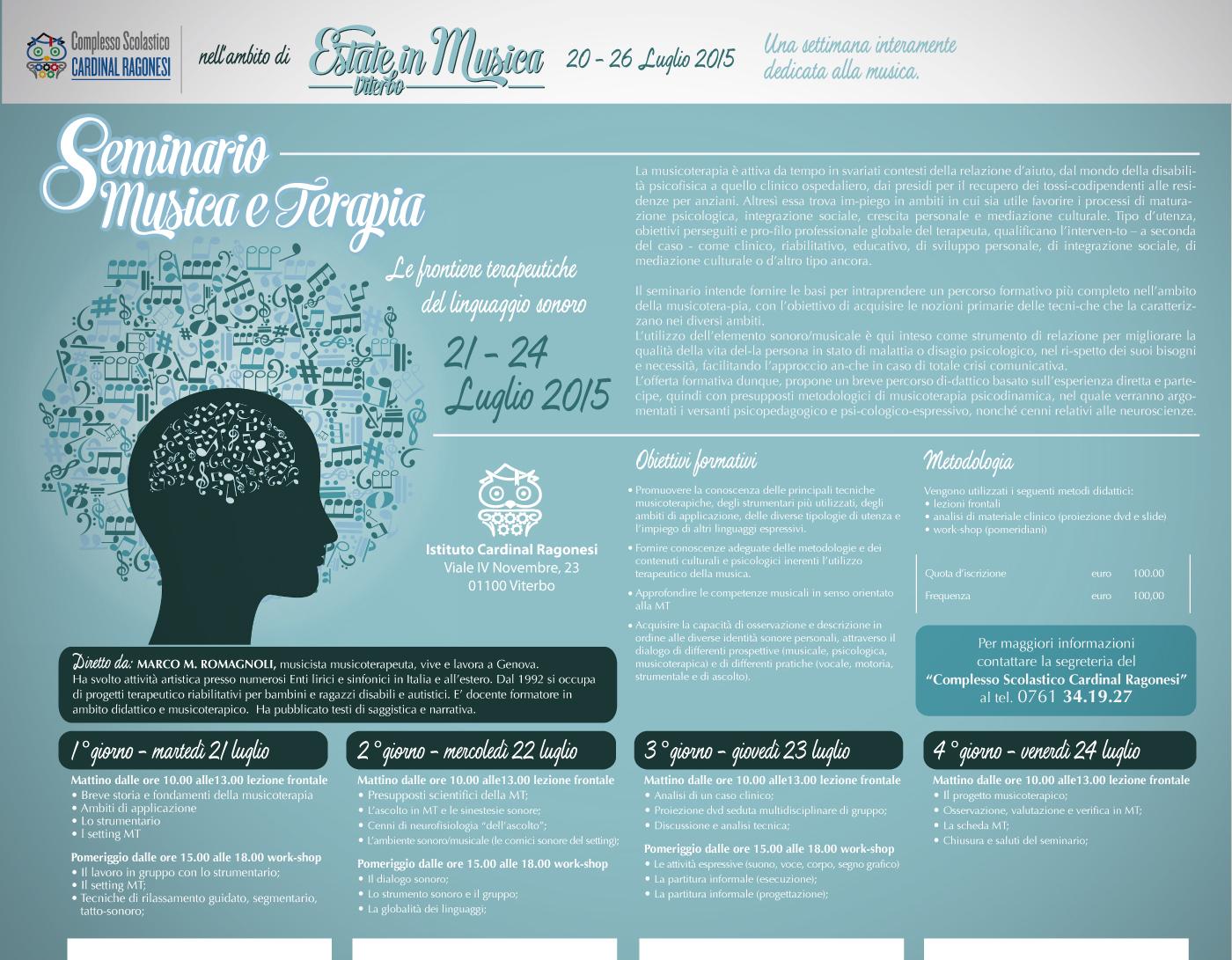 MUSICAterapia esterno - Seminario Musica e Terapia 2015