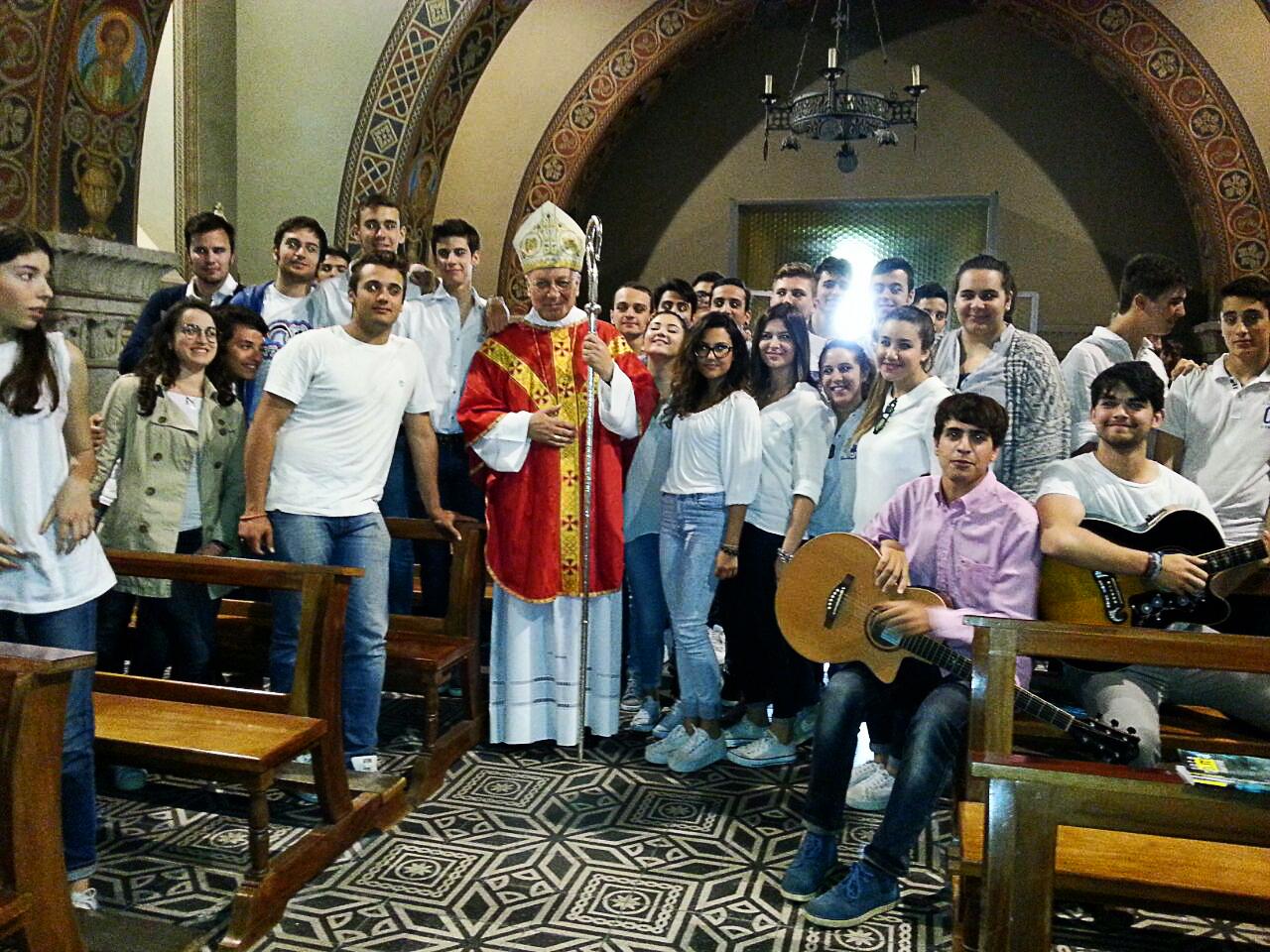 visita vescovo Ragonesi - Visita del Vescovo della diocesi di Viterbo, Lino Fumagalli, presso l'istituto - 5 giugno 2015