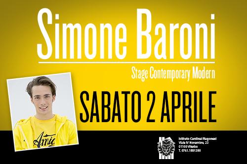 Simone Baroni news copertina 2 - 02 Aprile. Scuola di Danza Ragonesi - Stage Contemporary Modern con Simone Baroni