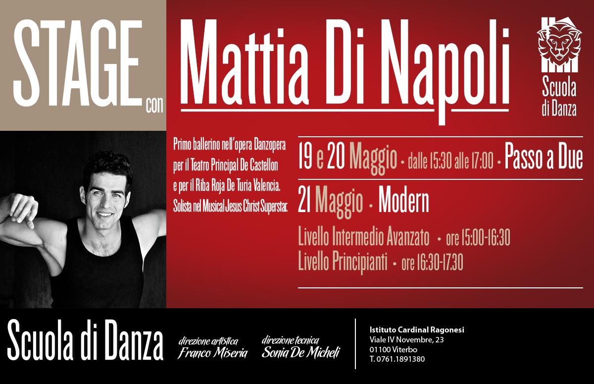 MattiaDiNapoli STAGEnews - 19-20-21 Maggio. Stage con Mattia Di Napoli