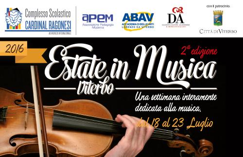evidenza EstateinMusica 2016 Ragonesi - Estate in Musica - Viterbo • Luglio 2021
