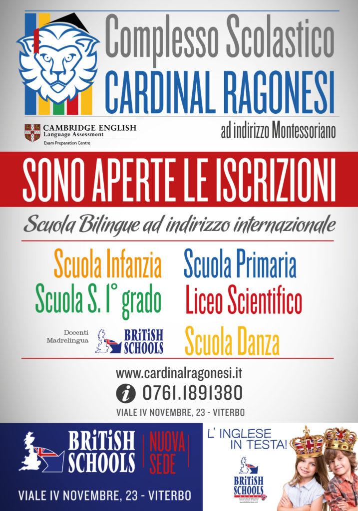 Cardinal Ragonesi AS2016 17 Iscrizioni 717x1024 - A.S. 2016/17. Iscrizioni. Novità: Nuova Sede British School Ragonesi!
