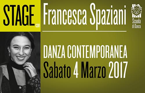 Francesca Spaziani StageDanzaContemporanea 2017 MARZO COP - Sabato 4 Marzo. Scuola Danza. Stage con Francesca Spaziani