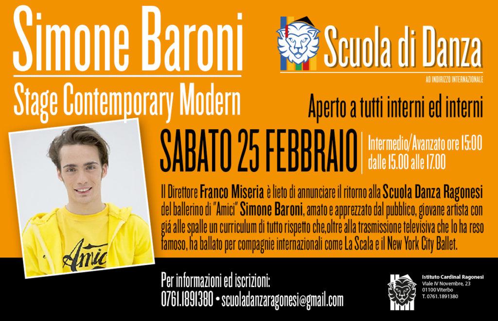 Simone Baroni news2017 1024x661 - Sabato 25 febbraio. Scuola Danza. Stage con Simone Baroni