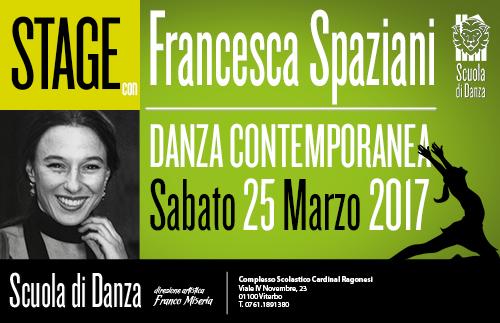 Francesca Spaziani StageDanzaContemporanea 25 03 2017 COP - Sabato 25 Marzo. Scuola Danza. Stage con Francesca Spaziani