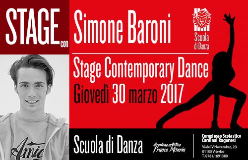 Simone Baroni Stage contemporary modern 2017 copertina2 - Estate in Musica - Viterbo • Luglio 2021