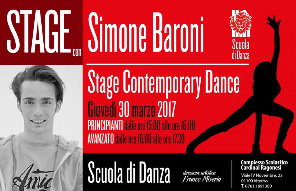 Simone Baroni Stage contemporary modern 2017 news2 1024x661 - Giovedì 30 marzo • Scuola Danza. Stage con Simone Baroni • contemporary modern