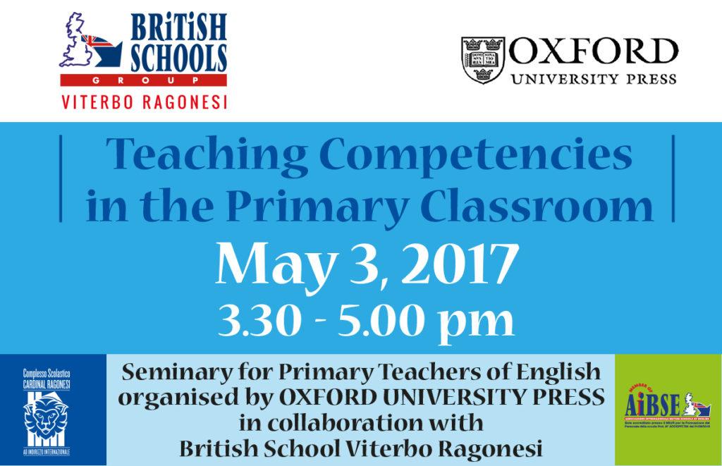 NEWS INCONTRO may3 BRITISH Viterbo 1024x661 - 3 maggio. Seminario Oxford University Press. Teaching Competencies in the Primary Classroom
