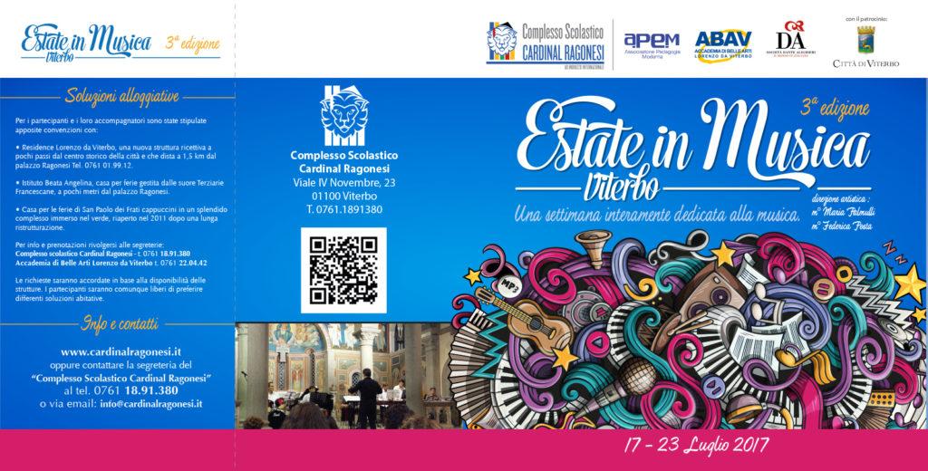 2017 Estate in Musica Viterbo 2017 brochure esterno 1024x520 - 17 - 23 luglio. Estate in Musica 2017 • 3a edizione