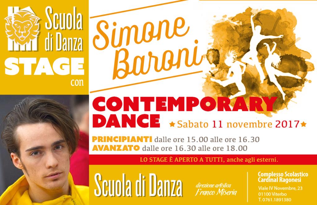 Simone Baroni Stage contemporary modern novembre 2017 news 1024x661 - Sabato 11 novembre • Scuola Danza. Stage con Simone Baroni • contemporary dance