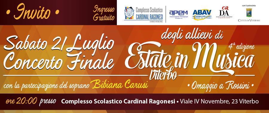 INVITO Concerto Estate in Musica - Concerto Finale degli Allievi di Estate in Musica Viterbo