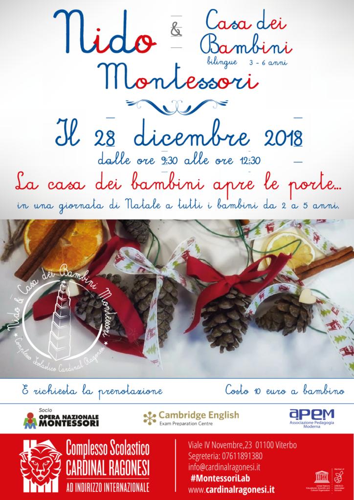 rev2 Natale locandina Montessori Ragonesi dic2018 724x1024 - La Casa dei Bambini apre le porte...28 dicembre 2018