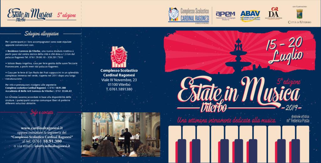 2019 Estate in Musica pieghevole RAGONESI esterno 1024x520 - 15-20 luglio - Estate in Musica Viterbo 5a edizione