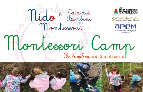 EVIDENZA montessori estivo - Montessori camp - Per bambini da 3a 6 anni - estate 2019