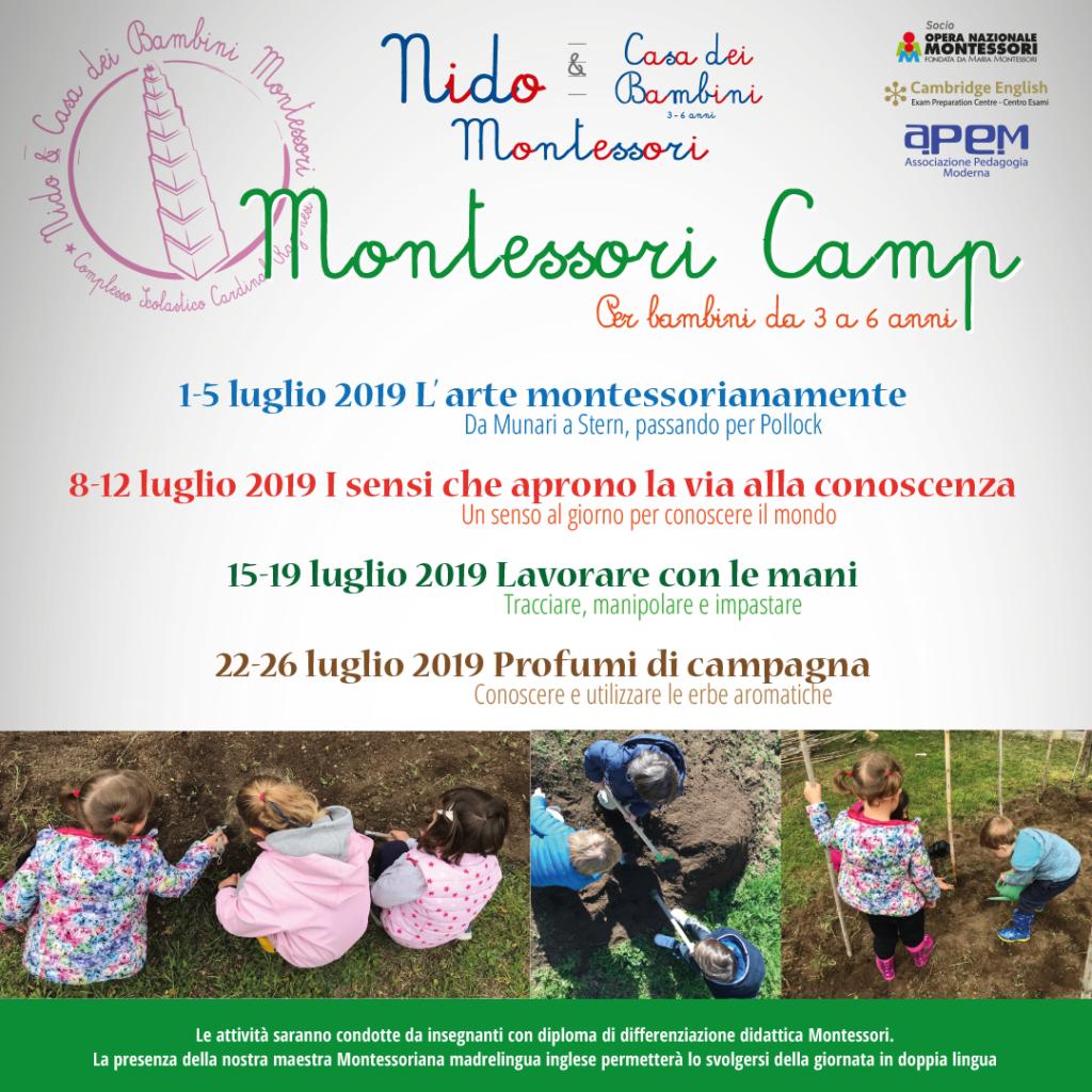FB WA Montessori Camp 2019 1024x1024 - Montessori camp - Per bambini da 3a 6 anni - estate 2019