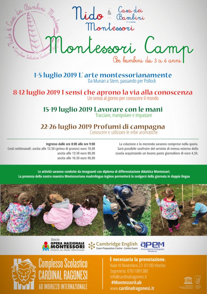 rev2 locandina Montessori Camp 2019 724x1024 - Montessori camp - Per bambini da 3a 6 anni - estate 2019