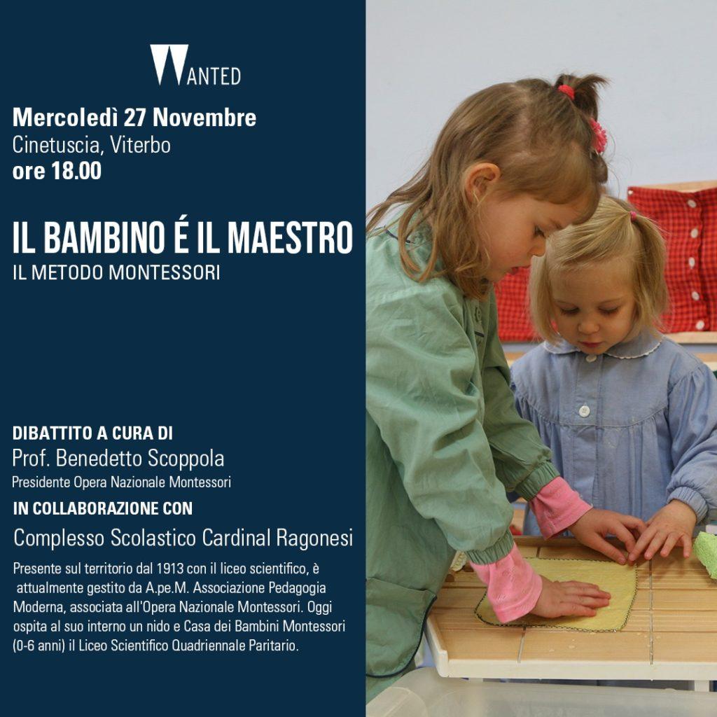 """RAGONESI film il bambino e il maestro 1024x1024 - Invitiamo alla visione del film """"Il bambino è maestro"""" Il metodo Montessori"""