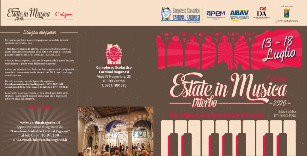 2020 Estate in Musica pieghevole RAGONESI esterno 1024x520 - 13-18 luglio 2020- Estate in Musica Viterbo 6a edizione