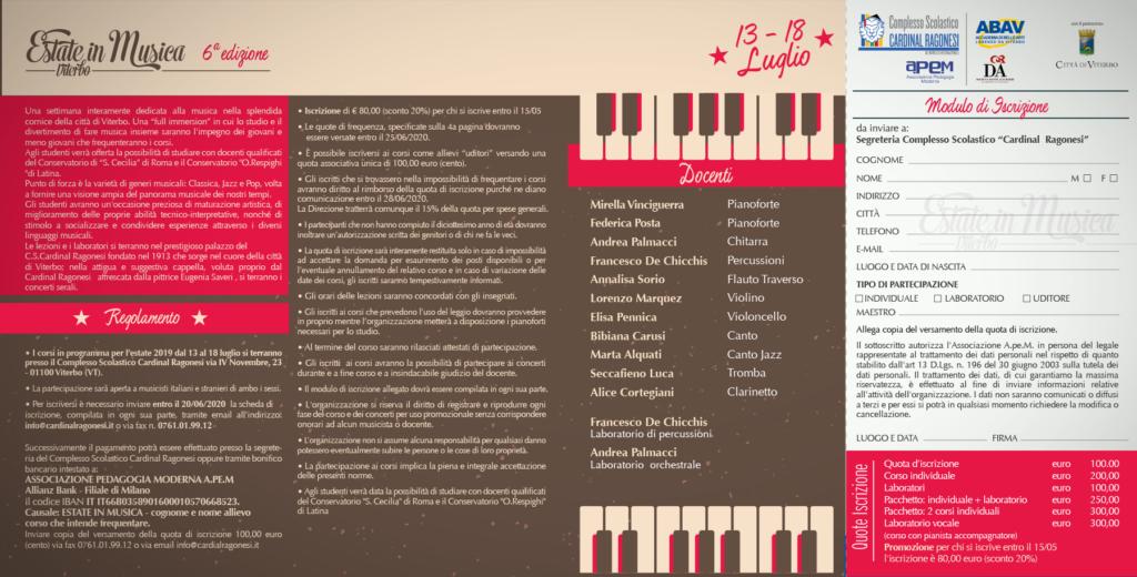 2020 Estate in Musica pieghevole RAGONESI interno 2 1024x520 - 13-18 luglio 2020- Estate in Musica Viterbo 6a edizione
