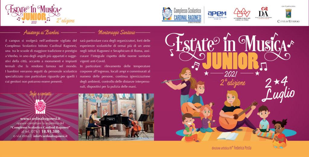 2021 Estate in Musica JUNIOR RAGONESI esterno 01 1024x520 - 2/4 luglio 2021- Estate in Musica Viterbo JUNIOR 2a edizione