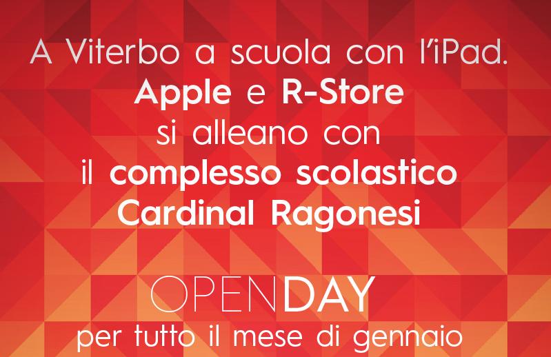 3 OPENDAY RAGONESI SCIENTIFICO 2020 - A Viterbo a scuola con l'iPad. Apple e R-Store si alleano con il complesso scolastico Cardinal Ragonesi