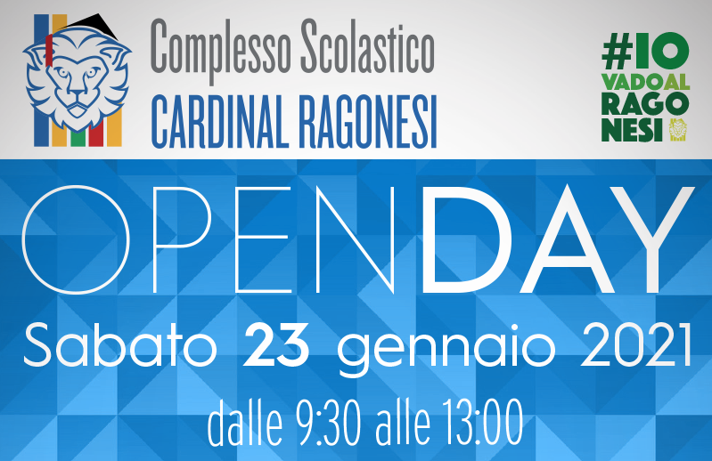 4 OPENDAY RAGONESI SCIENTIFICO 2020 - OPENDAY - Sabato 23 gennaio 2021