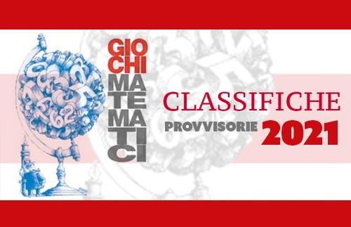 Evidenza GIOCHIMATEMATICI 2021 news - Classifiche provvisorie Semifinali dei Giochi Matematici del 24 aprile 2021