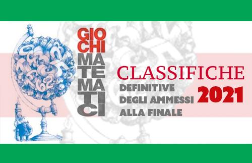 Evidenza ammessi finale GIOCHIMATEMATICI 2021 news - Classifiche definitive degli Ammessi alla finale dei Giochi Matematici 2021