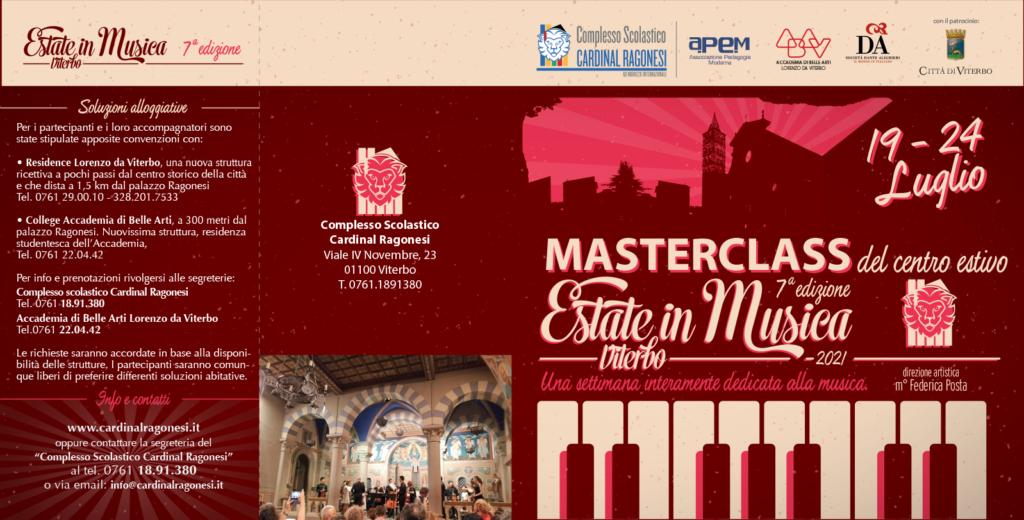 MASTERCLASS 2021 Estate in Musica pieghevole RAGONESI esterno 1024x520 - Estate in Musica - Viterbo • Luglio 2021