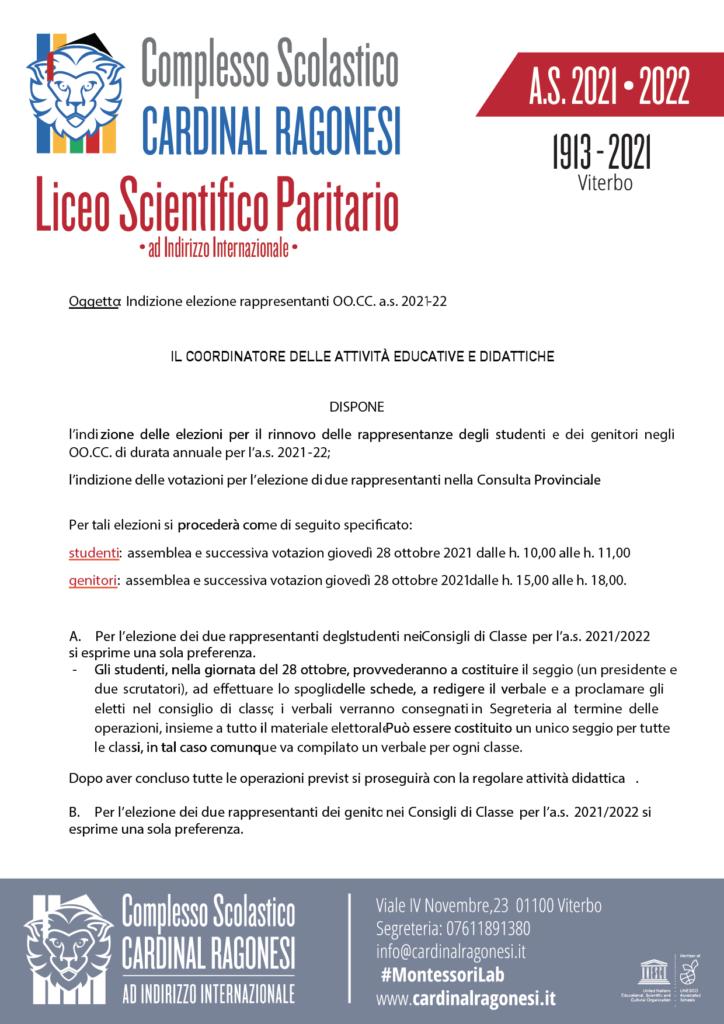 Ragonesi Scientifico Elezioni 2021 2022 w 01 724x1024 - Indizione elezione rappresentanti OO.CC. a.s. 2021-22